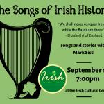 The Songs of Irish History, event Sept. 17, 2020