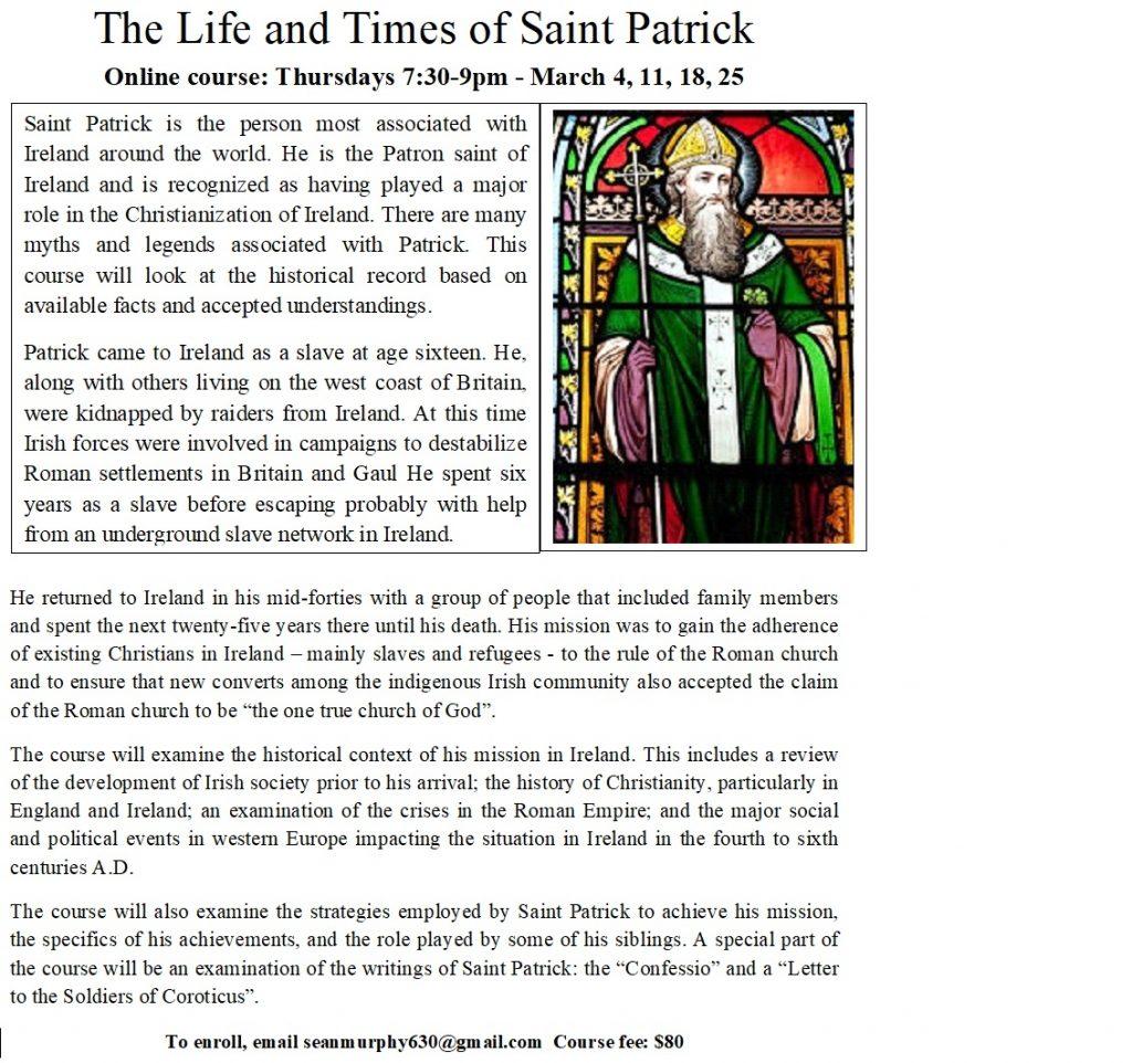 St. Patrick online course